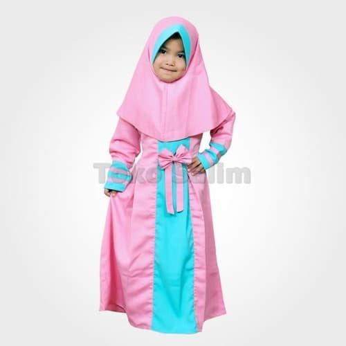 Gamis Anak Perempuan Balotelli Pita Murah Lucu - Peach Abs01 - Size M - salimanakmuslim | Tokopedia