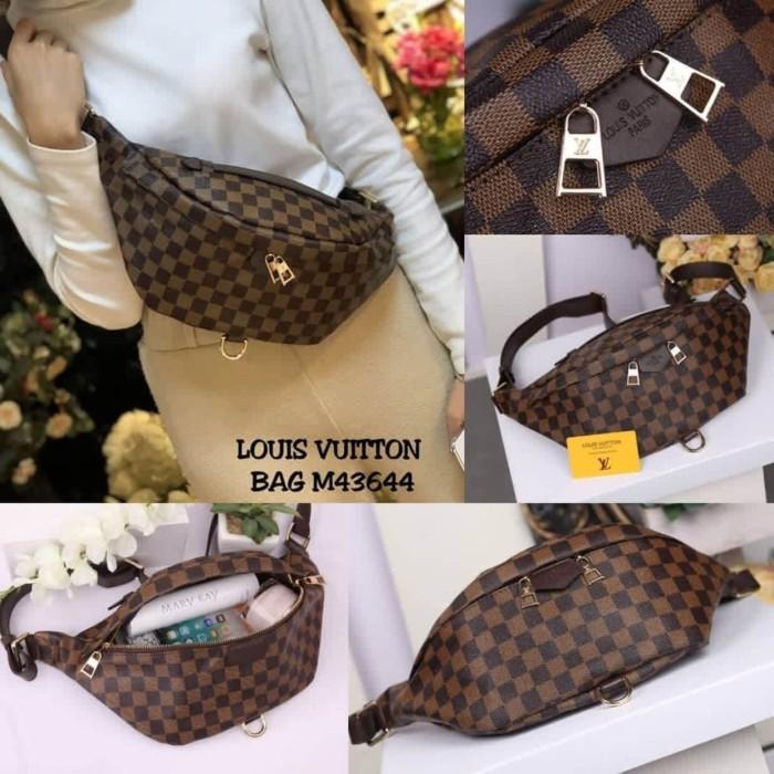 Supplier Tas Wanita Waistbag Selempang Punggung Branded Lvi Bumbag -  Cokelat Muda 66050a1ef1