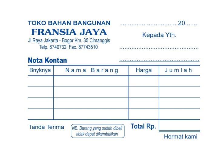 Jual 18f Ncr 3ply 1w Custom Nota Surat Jalan Kwitansiinvoice Bon Kota Depok Percetakan Trisakti Tokopedia