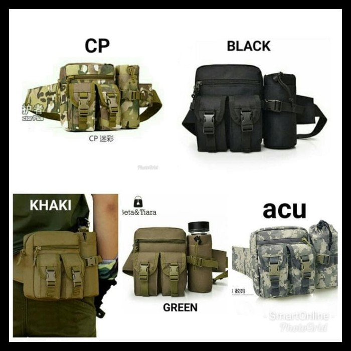 Tas Pinggang Tactical Army Dengan Tempat Botol