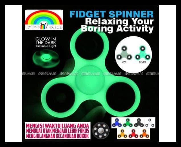 Fidget Spinner Glow In The Dark Nyala Fidgeting Toys Focus Ori Not Led