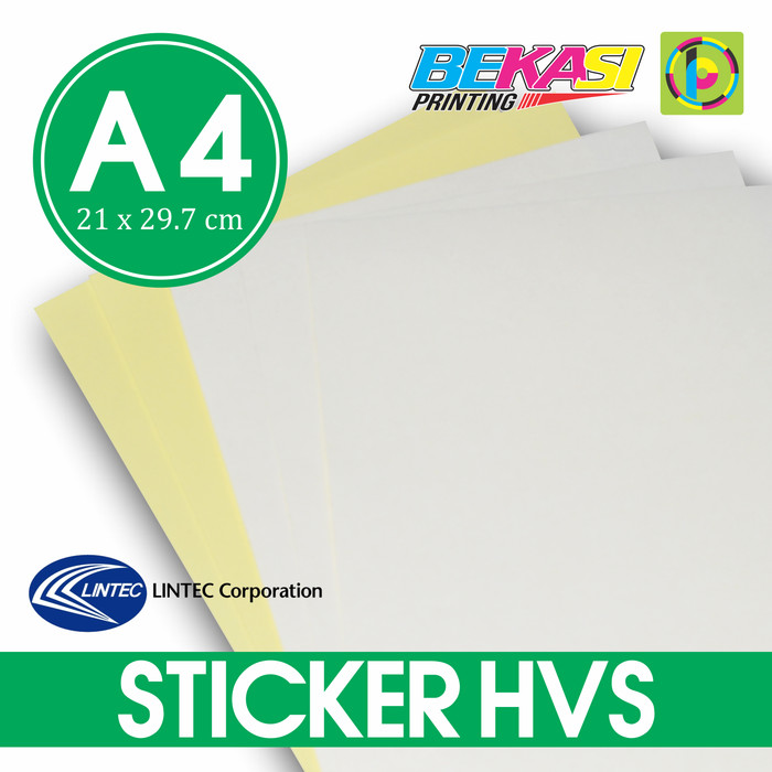 photograph relating to Sticker Printable known as Jual Kertas Stiker A4 Printable (bisa di Print) - Sticker HVS Lintec Japan - Kota Bekasi - Bekasi Printing Tokopedia