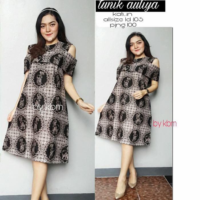 Jual Dress Batik Pendek Modern Dress Batik Pinterest Kab Sragen Gamis Remaja Muslimah Tokopedia