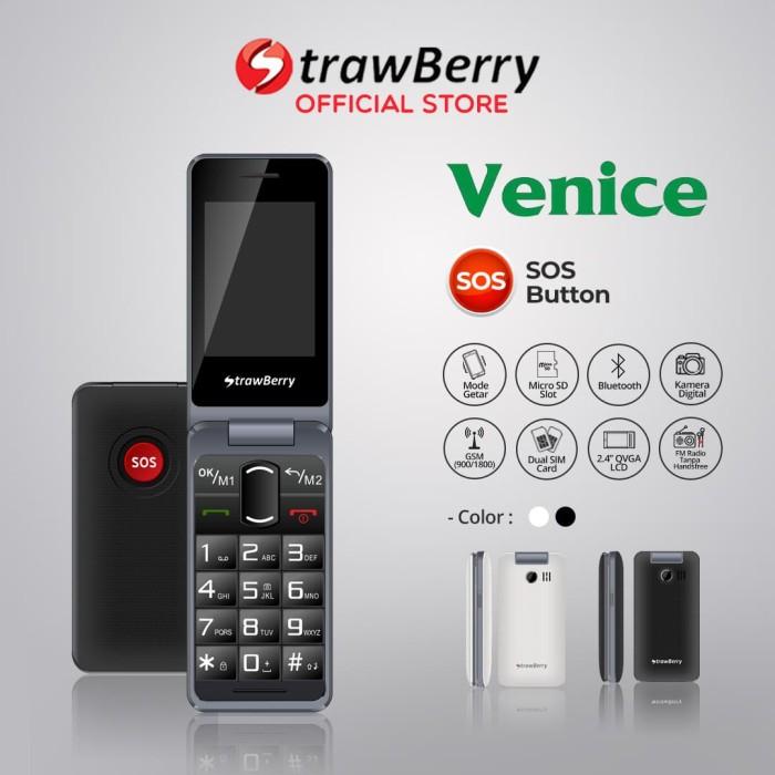 harga [fs] strawberry venice | handphone flip hp murah kamera bluetooth - putih Tokopedia.com