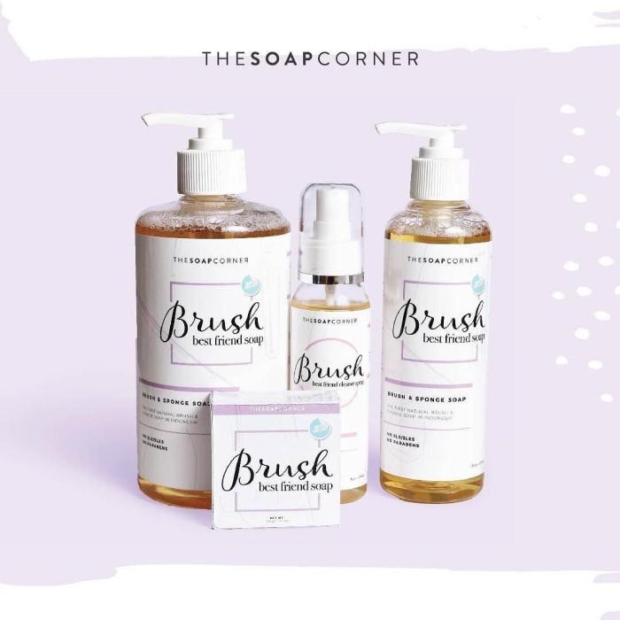 harga Brush liquid soap 250ml - soap corner | sabun pembersih kuas make up Tokopedia.com