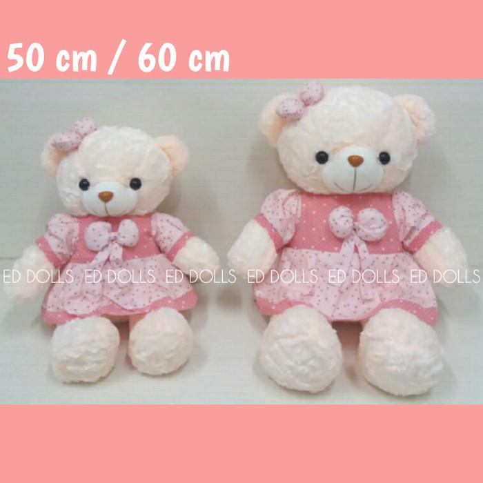 ... harga Boneka beruang teddy bear girl - 60 cm Tokopedia.com d7f4ee6c30