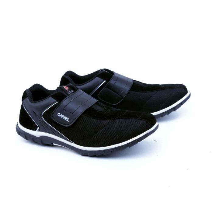 harga Garsel sepatu casual pria dewasa hitam gus 1615 murah ori original Tokopedia.com