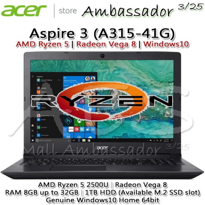 harga Acer aspire 3 ryzen 5 |vega 8|8gb up to 32g|1tb ada slot m.2 ssd|win10 Tokopedia.com