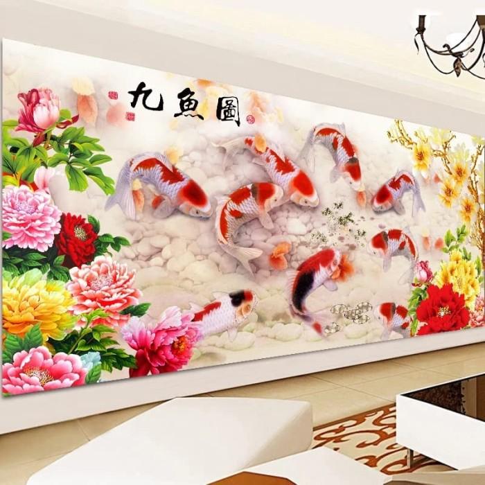 harga Diy diamond painting. 9koi bunga (80x35 cm) d82k Tokopedia.com