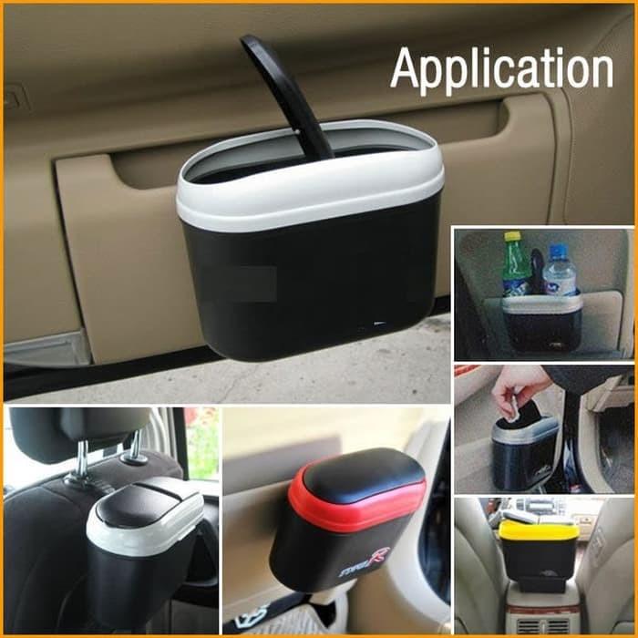 Lanjarjaya Tempat Sampah Mobil Samping Pintu Dashboard Car Trash Bin Silver + Gantungan Mobil. Source