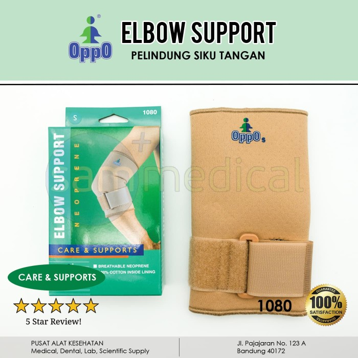 Foto Produk OPPO 1080 Tennis Elbow Brace With Strap / Deker Siku / support - SIZE L dari SAM Medical