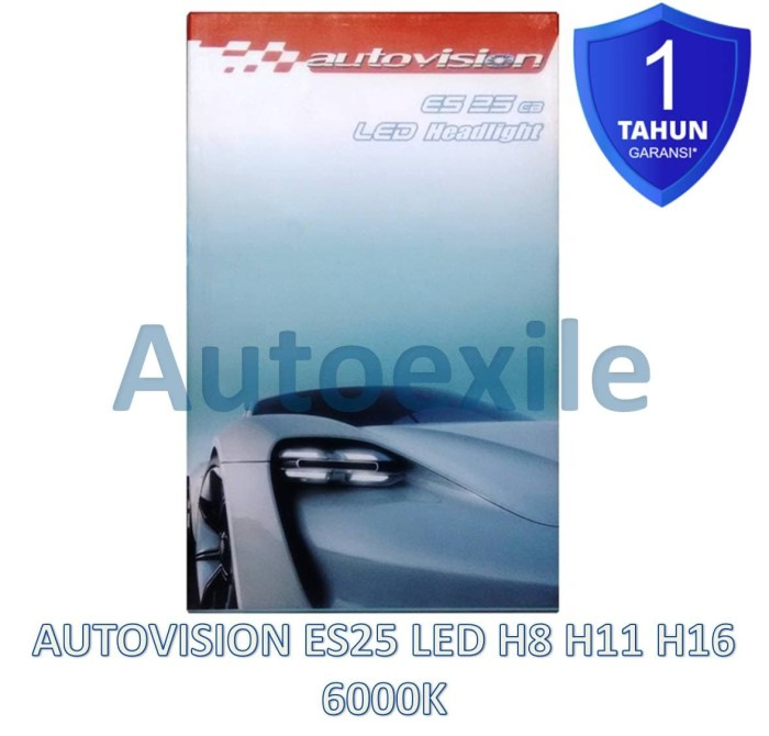 harga Autovision es25 cb led h8 h11 h16 25w 6000k putih epistar lampu mobil Tokopedia.com
