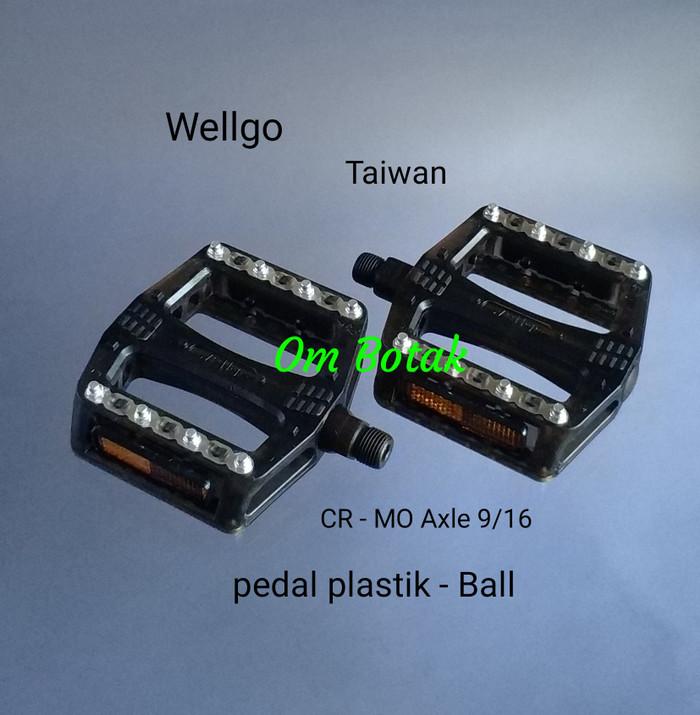 harga Pedal wellgo hitam b-108 rp cr-mo axle taiwan. spare part sepeda Tokopedia.com