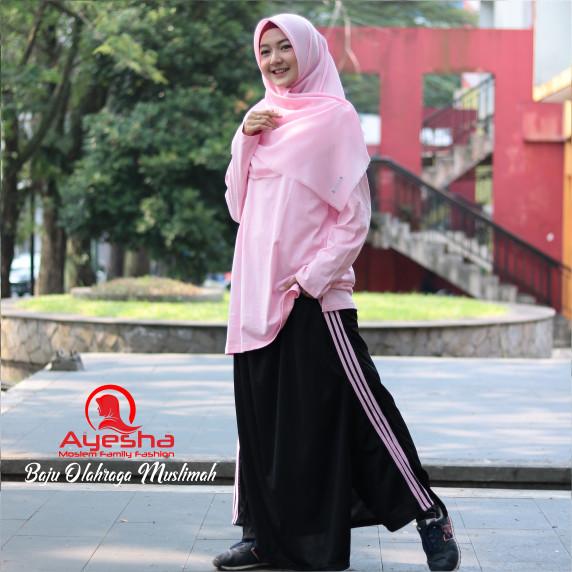 harga Setelan baju celana senam muslim training wanita olahraga yoga sport Tokopedia.com