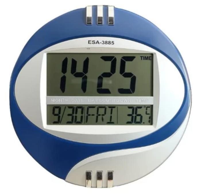 Foto Produk Jam digital bisa di dinding atau di meja ESA 3885 dari zahwaherbal