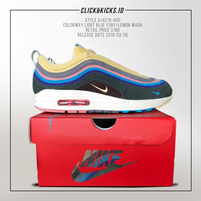 low priced 44dda 64982 NIKE AIR MAX 1 97 SEAN WOTHERSPOON godkiller unauthorized authentic
