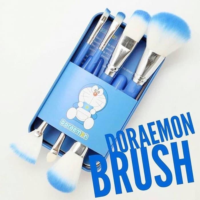 Kuas Doraemon Brush Kaleng 7 in 1 Make Up Brush Kuas Make Up