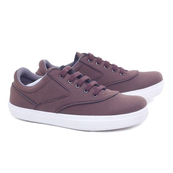 Sepatu Pria Warna Coklat Brown GR Sepatu Cowo Casual Sneakers Kets
