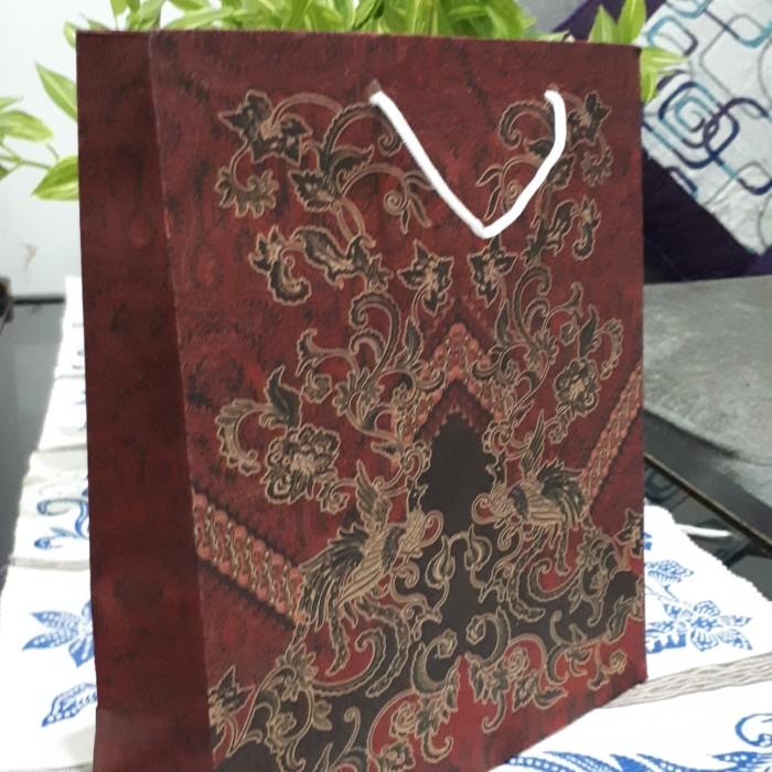 paper bag kecil paper bag batik tas kertas tas kado uk.20x8x25