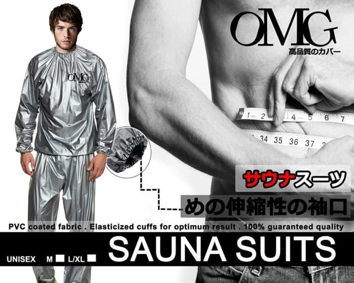 Foto Produk Promo! Baju Sauna Suit OMG Jaket Celana Olah Raga Pria Wanita Best Qua dari Dua Belas Store