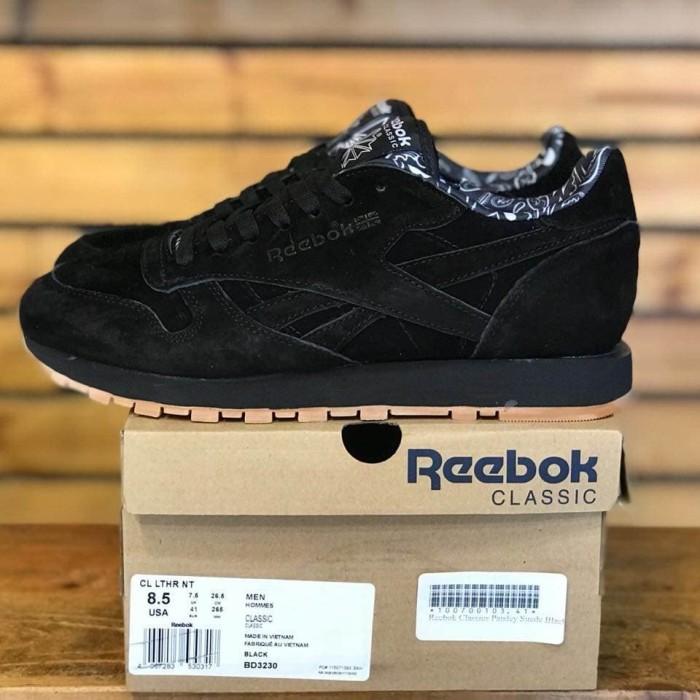 Jual Sepatu Reebok Classic Pasley Seude Black Gum Kota Bandung SNEAKERS TRUSTED PREMIUM   Tokopedia
