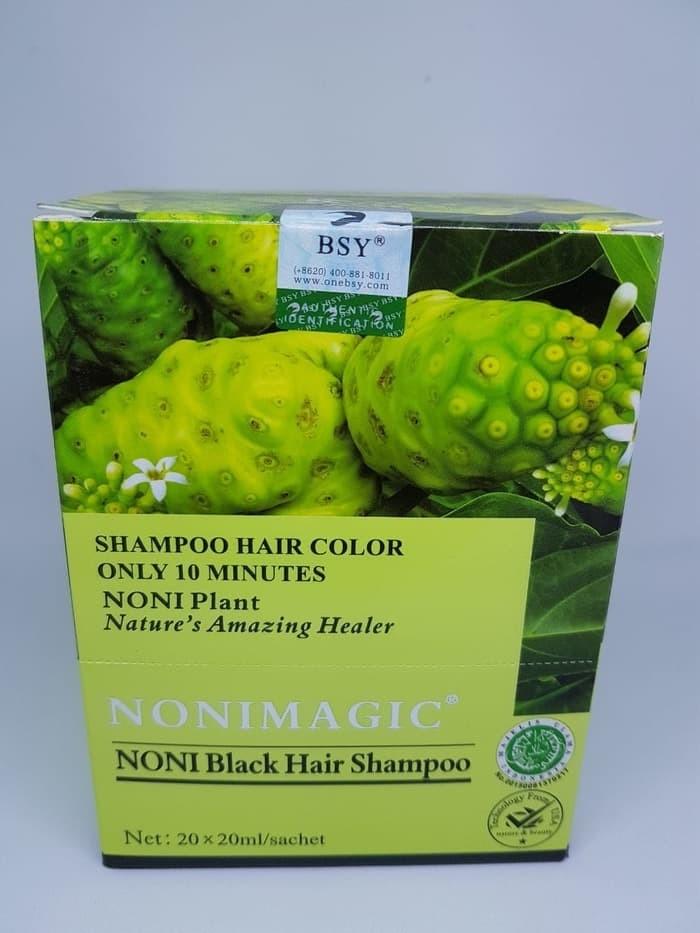 shampoo Bsy Noni Black Hair Magic Asli Murah Bpom perbox isi 20 sachet