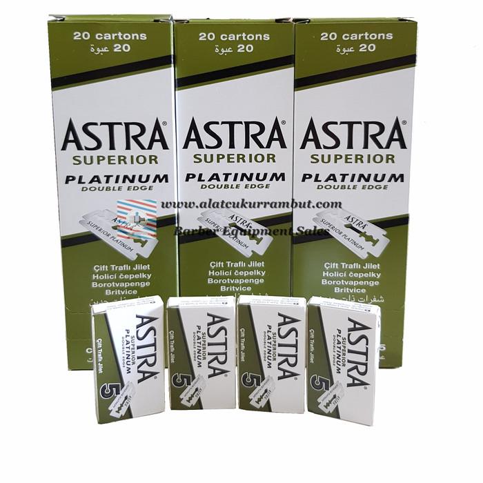 Foto Produk Silet Astra Superior Platinum Doubel Edge Untuk Barbershop dari alat cukur rambut