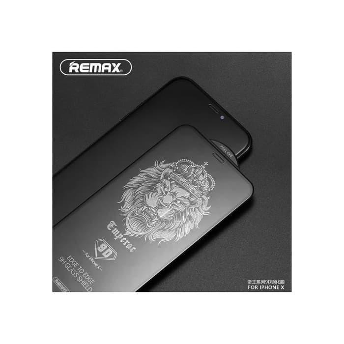 harga Remax tempered glass emperor gl-32 series 9d for iphone 7/8 - hitam Tokopedia.com