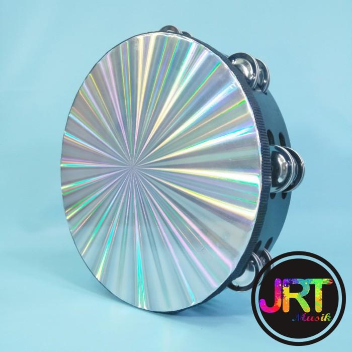 harga Tamborin / tambourine hologram 10  double ring made in taiwan Tokopedia.com