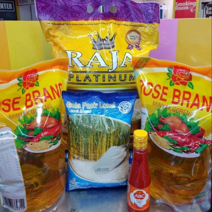 Promo Paket 5 Produk Sembako Beras,Minyak dll