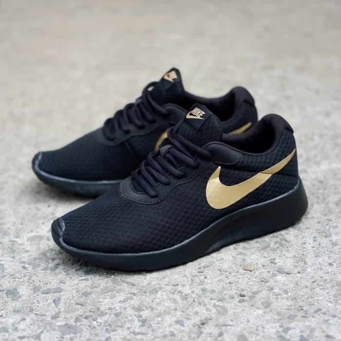 c13480efa MODE TERBARU HARGA TERMURAH NEW Sepatu Nike ORIGINAL Tanjun Black Gold