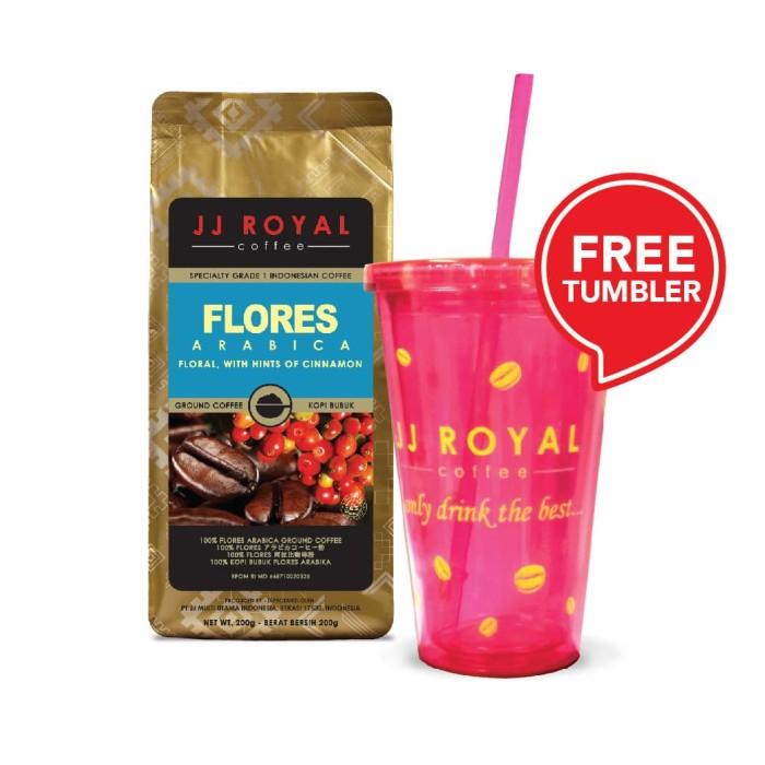coffee/kopi jj royal flores arabica ground bag 200g