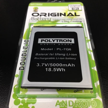 Baterai Batre Battery Polytron Roket Q5 PL7Q6 R1500 Q Five Original