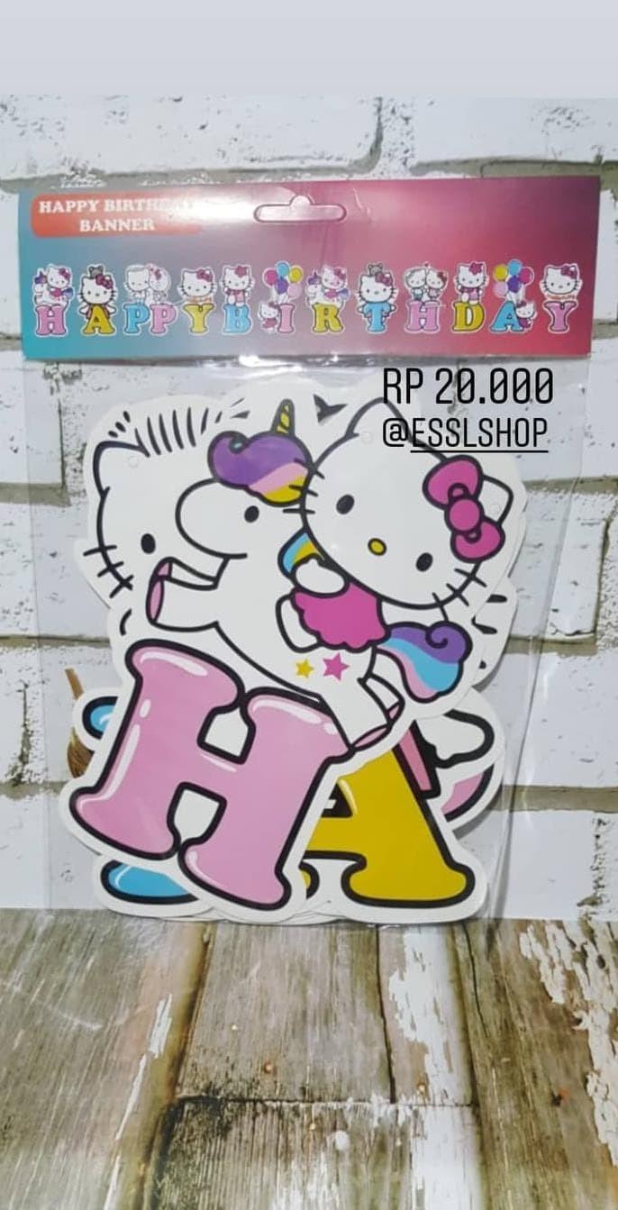Jual Bunting Flag Happy Birthday Hello KittyU002F Banner Hbd Hello Kitty Jakarta Barat Hebatshop1