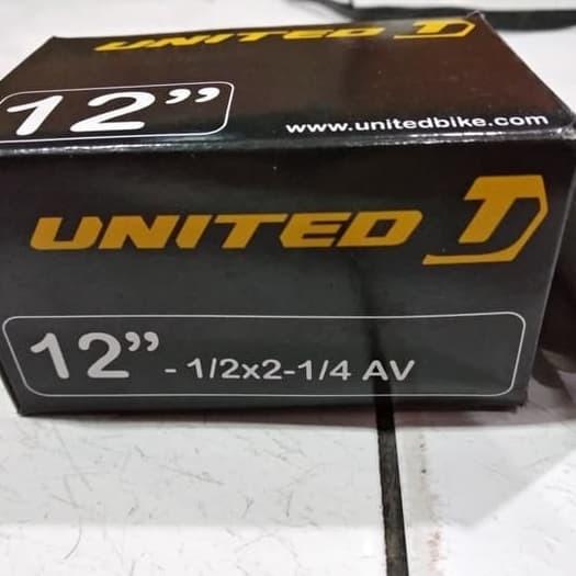 Foto Produk 12 1/2 x 2 1/4 Ban Dalam Sepeda anak United , American Valve (AV) dari Sekawan Sepeda