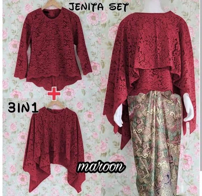 Jual Model Baju Brokat Kombinasi Batik Rok Lilit 2 Baju Putih Dki Jakarta Batik Preemium Tokopedia