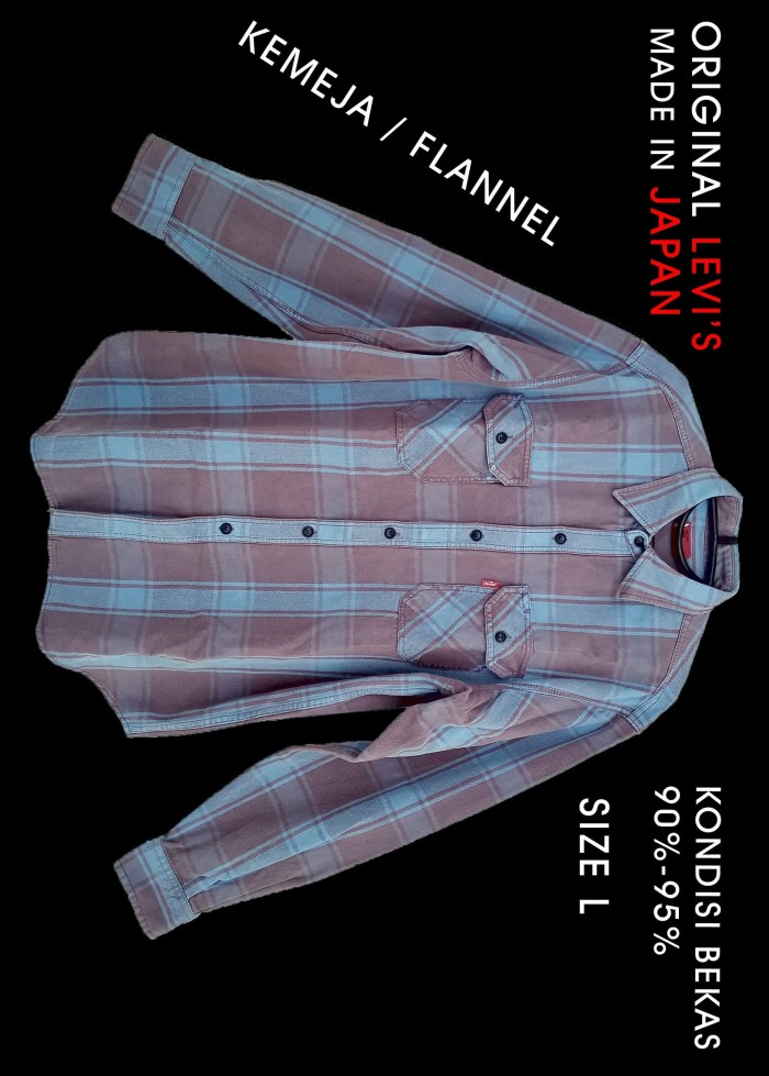 Kemeja flannel flanel levis levi's asli original bekas second size L