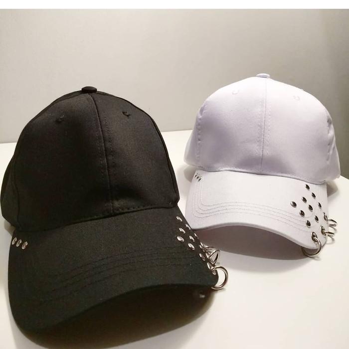 Jual Topi baseball RING fashion import korea kpop wanita pria polos ... 799198c895