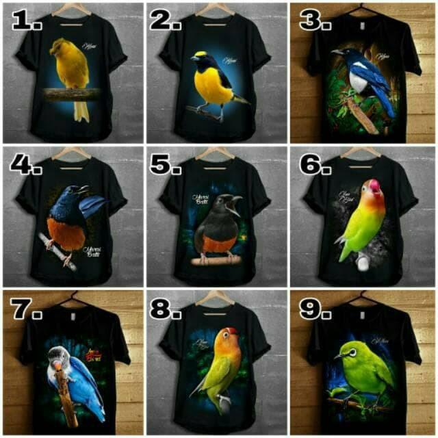 Jual Ready Stok Kaos Combed Burung Kicau Combed 24s Kaos Murah Distro Kicau Harga Rp 57.900