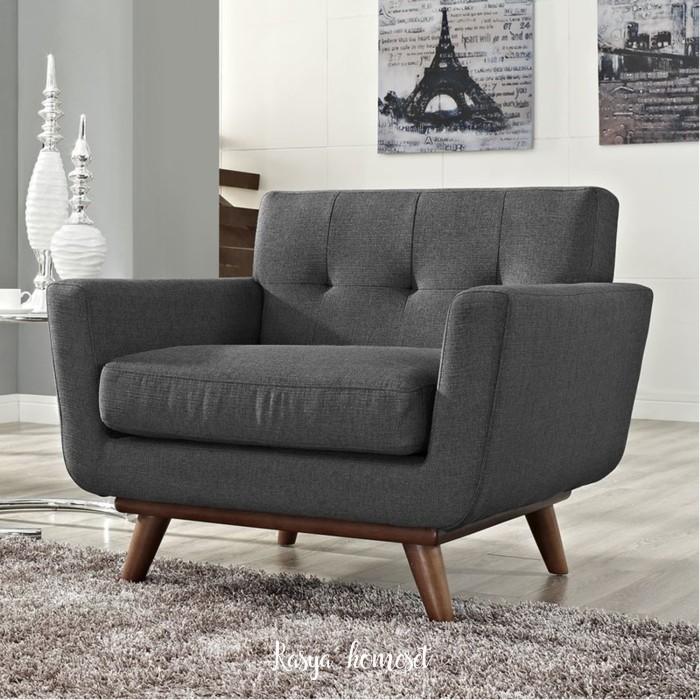 Jual Kursi Sofa Scandinavian Armchair Kursi Teras Ruang Tamu Minimalis Kab Jepara Rasya Homeset Tokopedia