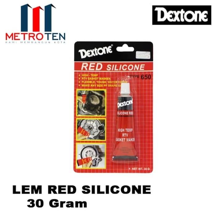 Image Dextone Red Silicone Red / Lem Silikon Merah 30 Gram