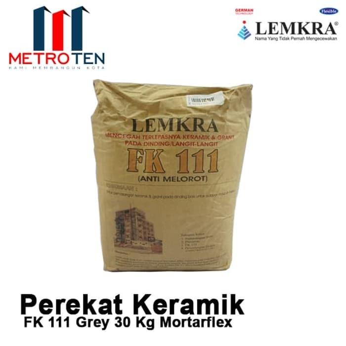 Image LEMKRA Perekat Keramik Dinding FK 111 Grey 30Kg Mortarflex
