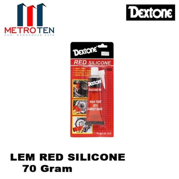 Image Dextone Red Silicone Red / Lem Silikon Merah 70 Gram