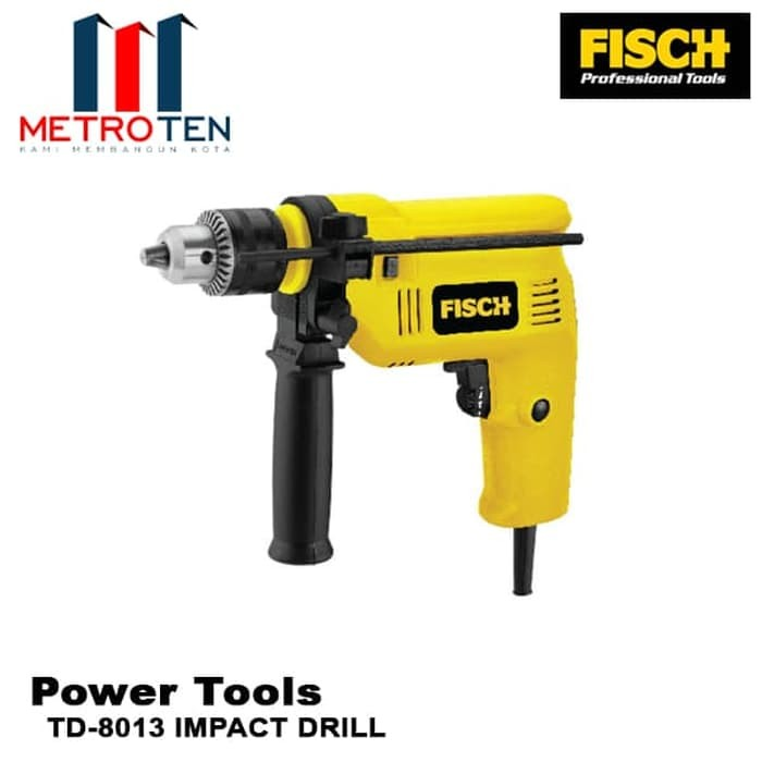 Image FISCH Mesin Bor TD-8013 IMPACT DRILL 500W