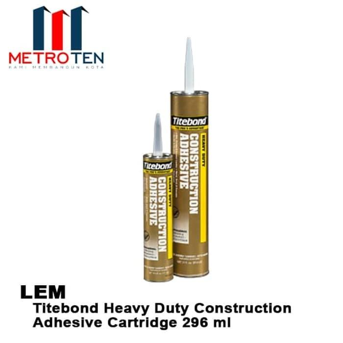 Image Lem Titebond Heavy Duty Construction Adhesive Cartridge 296 ml