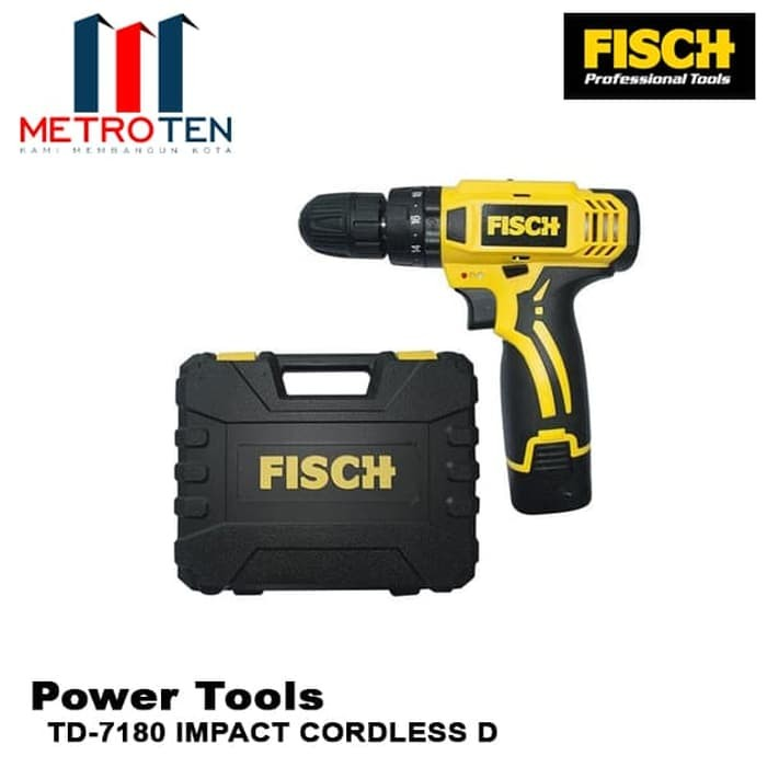 Image FISCH Mesin Bor TD-7180 IMPACT CORDLESS D