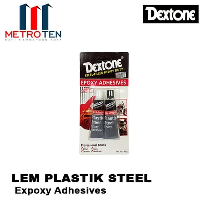 Image Dextone Lem Plastik Steel / Lem Hitam Putih