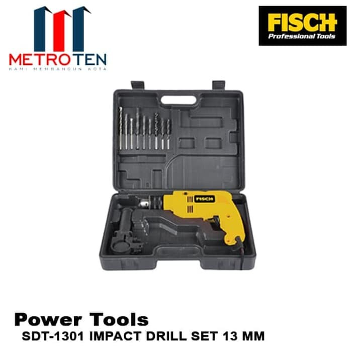 Image FISCH Mesin Bor SDT-1301 IMPACT DRILL SET 13 MM