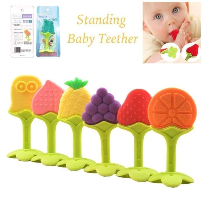 Baby teether fruit ange inobaby/ gigitan bayi berbentuk buah bpa free