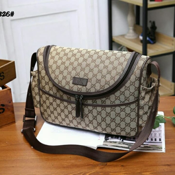 0ee454b0f934b8 Jual Gucci GG Canvas Diaper Bag 123326 - Premium & Mirror | Tokopedia